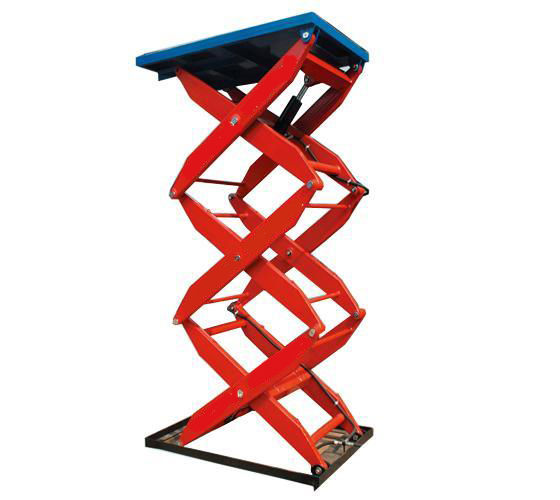 stationary_hydraulic_cargo_lift_multi_fork